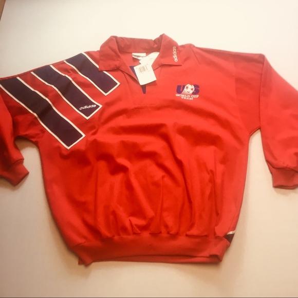 Vintage Adidas MensUS Soccer OfficialWarmup Jacket 2d1c0a1c0bc2